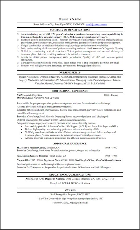 Skills Summary For Resume by Resumes Write A Nursing Skills On Resume Template With