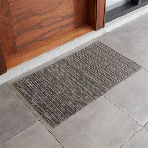 doormat review chilewich 20x36 grey striped doormat reviews crate and