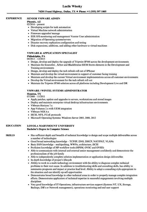 vmware resume sles velvet