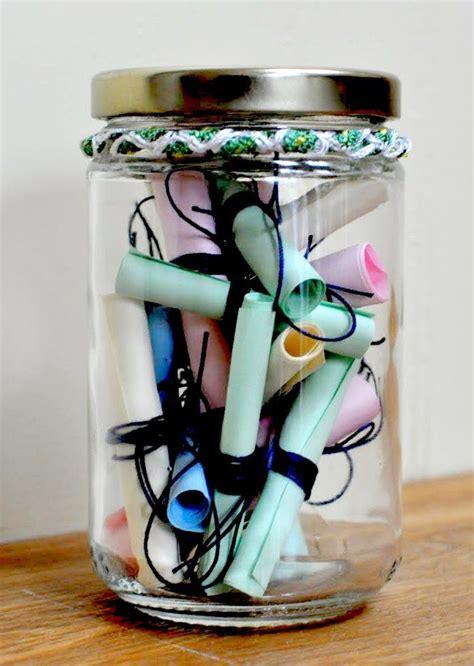 wishes jar   memories sit   table