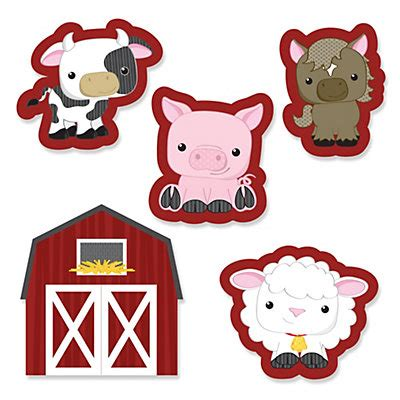 farm animals cut outs farm animals shaped paper cut outs