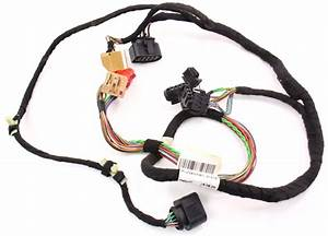 Lh Driver Front Door Panel Wiring Harness 98-01 Audi A6 C5
