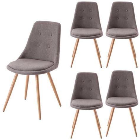 chaise de salle à manger lot de 4 chaises salle à manger gris odessa achat