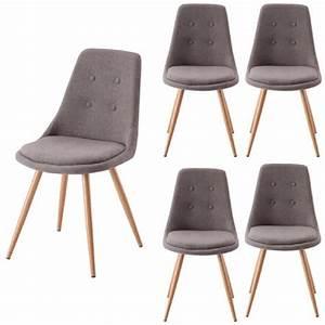 lot de 4 chaises salle a manger gris odessa achat With meuble salle À manger avec chaise salle a manger tissu gris