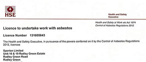 year license holders  remove asbestos asbestos