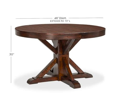 pottery barn kirkwood dining table benchwright extending pedestal dining table rustic