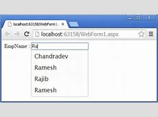 How to Create jQuery AutoComplete Textbox in ASPNet