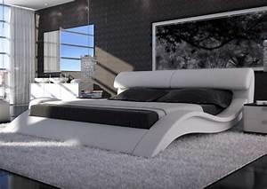 Moderne Betten Mit Led : sam polsterbett allure in wei 180 x 200 cm geschwungene seitenteile kopfteil aufklappbar ~ Bigdaddyawards.com Haus und Dekorationen