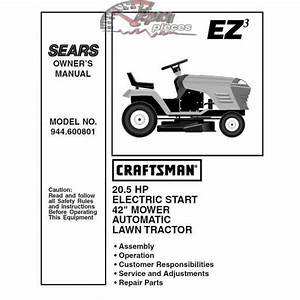 Craftsman Tractor Parts Manual 944 600801