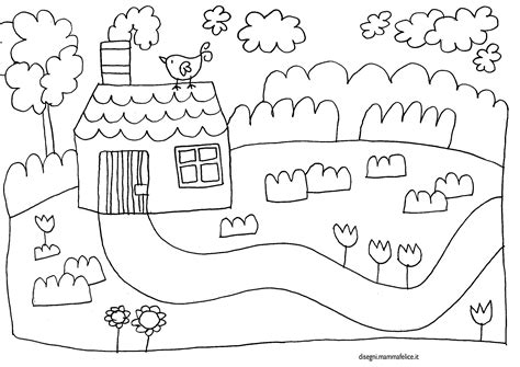 disegno da colorare casetta disegni mammafelice