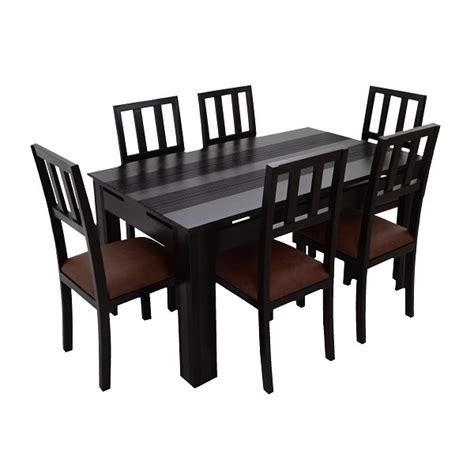 dining table set 6 seater ariaria 6 seater dining table table only skarabrand