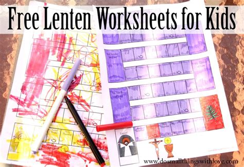 lenten worksheets for free printable do small 345 | Free lenten worksheets for kids