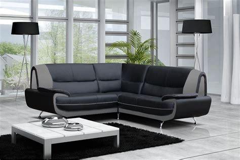 canapes modernes canapé moderne simili cuir réversible gris noir
