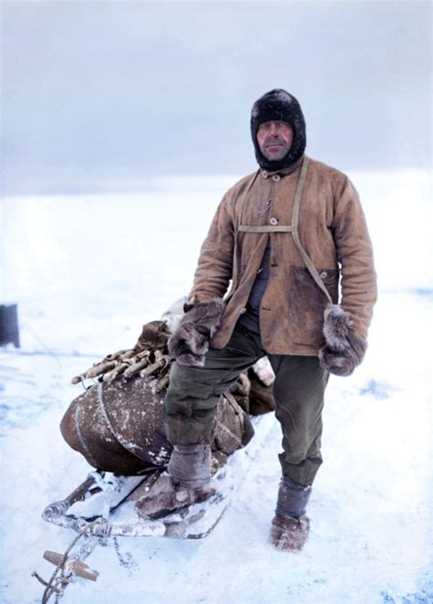 newly colourised    courageous arctic explorers