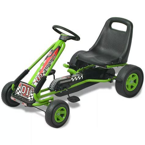 siege kart acheter vidaxl kart à pédale avec siège ajustable vert pas