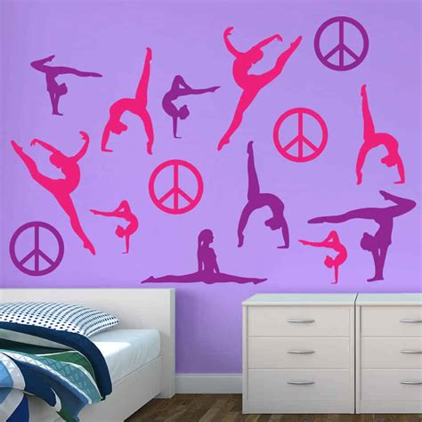 pink purple silhouette wall graphics sticker genius