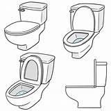 Toilet Flush Vector Flushing Clip Illustrations Graphics Royalty Gograph sketch template
