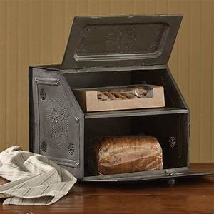 Country Decor Black Star Metal Bread Box