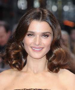 Rachel Weisz Medium Wavy Formal Hairstyle Dark Brunette Hair Color