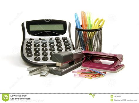 jpg fournitures de bureau fournitures de bureau photo stock image 15076660
