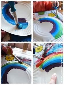 Bricolage A Faire Avec Des Petit : bricolage arc en ciel pour les petits la cour des petits ~ Melissatoandfro.com Idées de Décoration