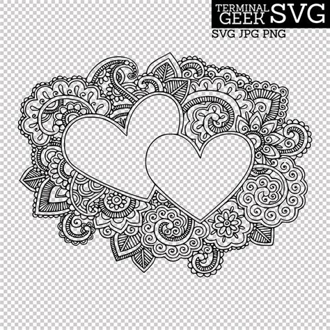 This week it is tate chaffin of savoringsurprises who is sharing a free mandala cut file that's everyone is sure to. Hearts Zentangle Mandala SVG PNG JPG Cricut Silhoutte ...