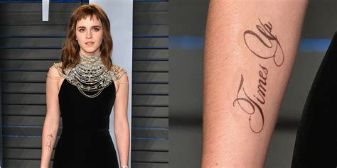Emma Watson Time Tattoo Has Typo She