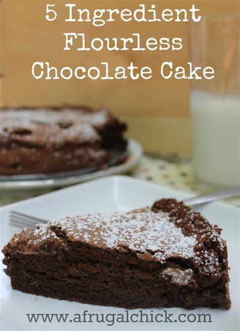 flourless chocolate cake recipe easy