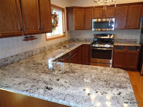 Granite Backsplash by Alaskan White Granite With Tile Backsplash Randolph