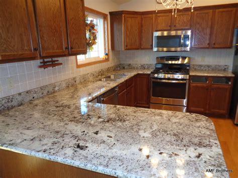 Kitchen Granite Pictures Granite Backsplash by Alaskan White Granite With Tile Backsplash Randolph