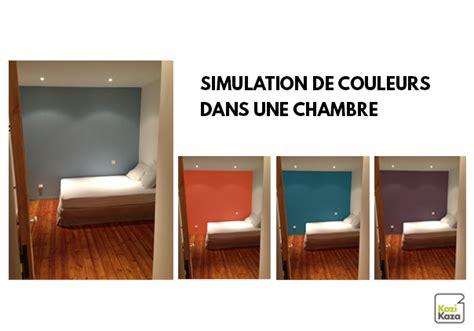 2 couleurs dans une chambre kazadécor simulateur de couleurs de peinture en ligne