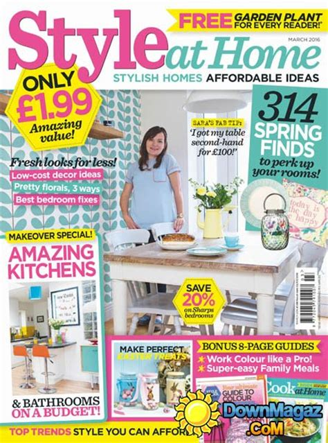style at home uk march 2016 187 download pdf magazines
