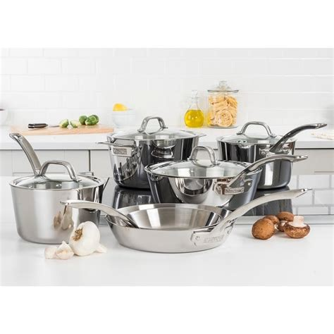 viking contemporary  pc cookware set mirror finish overstock