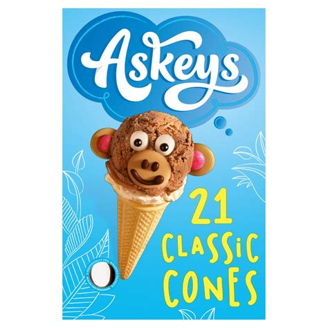 Askeys 21 Classic Cones with Sweetener   BB Foodservice