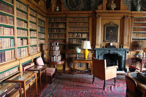 Beautiful Wood Paneling And Shelving In This Country House