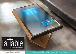 Table Basse Tablette Relevable : kineti une table basse qui est aussi une tablette de 42 pouces ~ Teatrodelosmanantiales.com Idées de Décoration