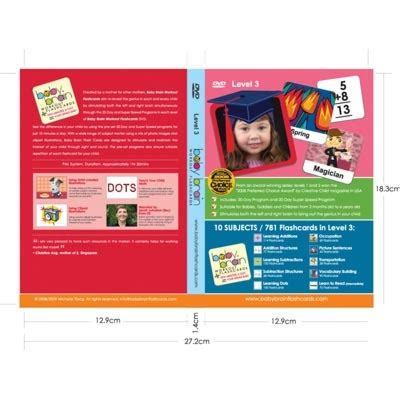Baby Brain Workout Flashcards Level 3 Dvd By Baby Brain Flashcards  Creative Child