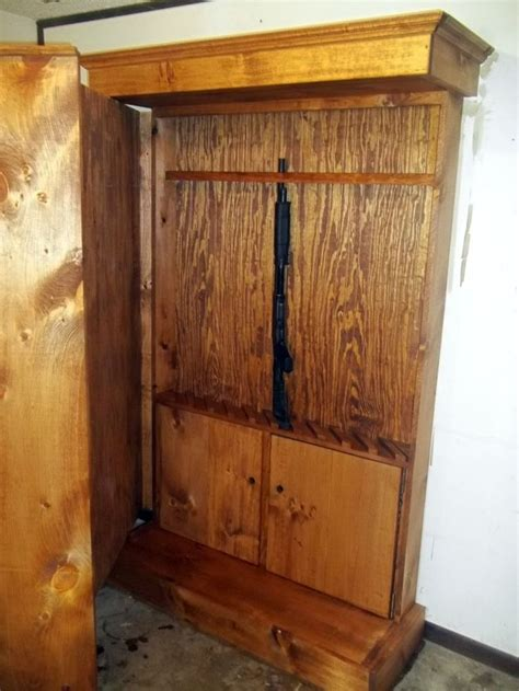 hidden gun cabinet furniture woodworking projects plans