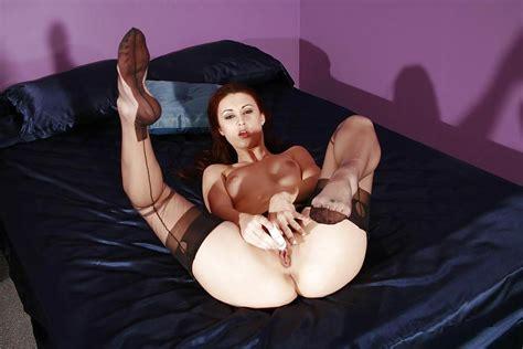Beautiful Sexy Karlie Montana In Black Stockings 9 Pics
