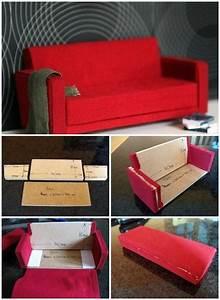 Diy barbie furniture and diy barbie house ideas creative for Homemade miniature furniture