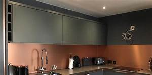 Copper Effect Kitchen Splashback