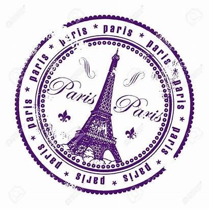 Paris France Stamp Passport Clipart Stamps Illustration