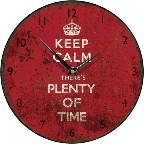 The Enchanted Garden by Shabby Chic Keep Calm There S Plenty Of Time Round Wall Clock