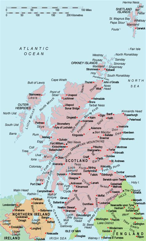 map  scotland country  city