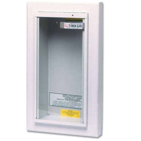 kidde 10 lbs semi recessed extinguisher cabinet 468045 the home depot