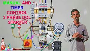 Manual And Timer Control 3 Phase Dol Starter In Tamil And