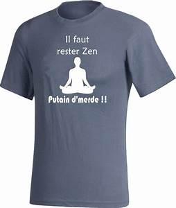 Tee Shirt Homme Humour : zen tee shirt gris m ditation bouddhisme dr le oups ~ Melissatoandfro.com Idées de Décoration