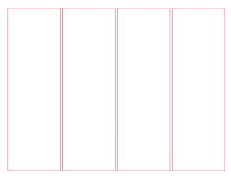 Printable Blank Bookmark Template Pdf Word Calendar