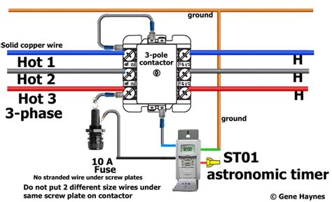 how to wire motor contactor