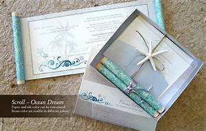 using scrolls in your wedding invitations i do concepts With scroll beach wedding invitations
